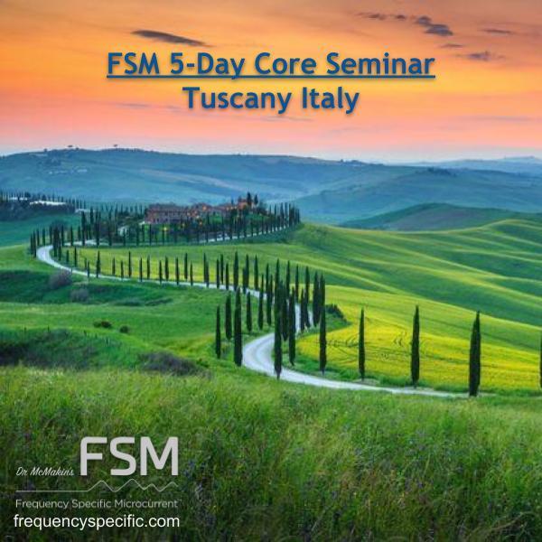 2021 Tuscany Italy Full 5-Day Live FSM Core Seminar