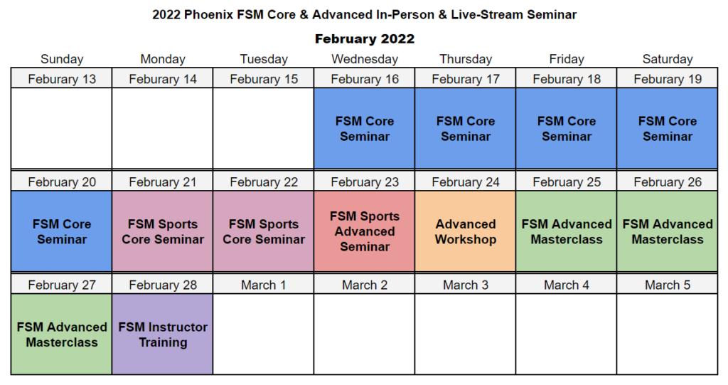2022 phoenix event calendar